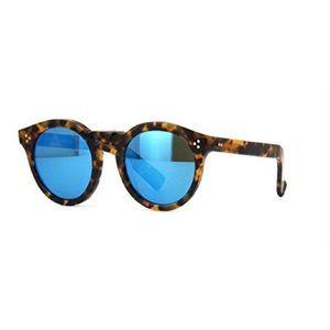 Illesteva Leonard II Sunglasses Mirrored Blue Lens